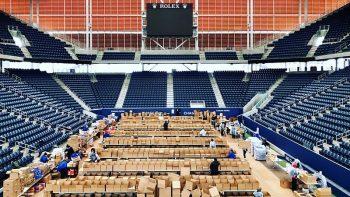 Estádio do Us Open será utilizado para arrecadar alimentos