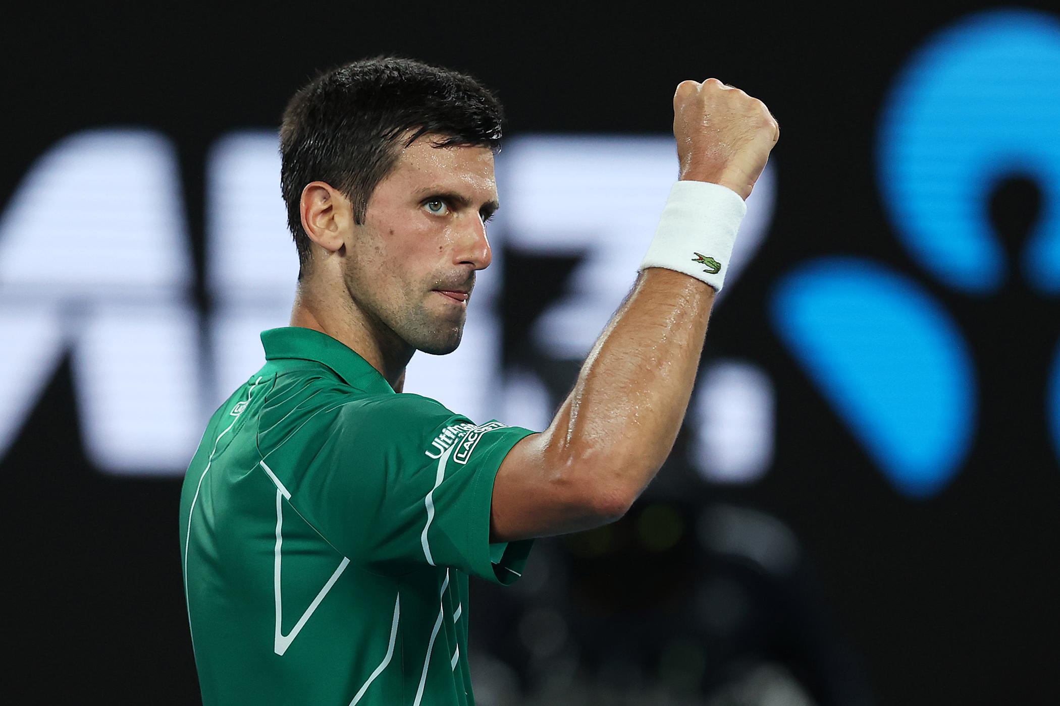 Ranking congelado não contará semanas na liderança por Djokovic