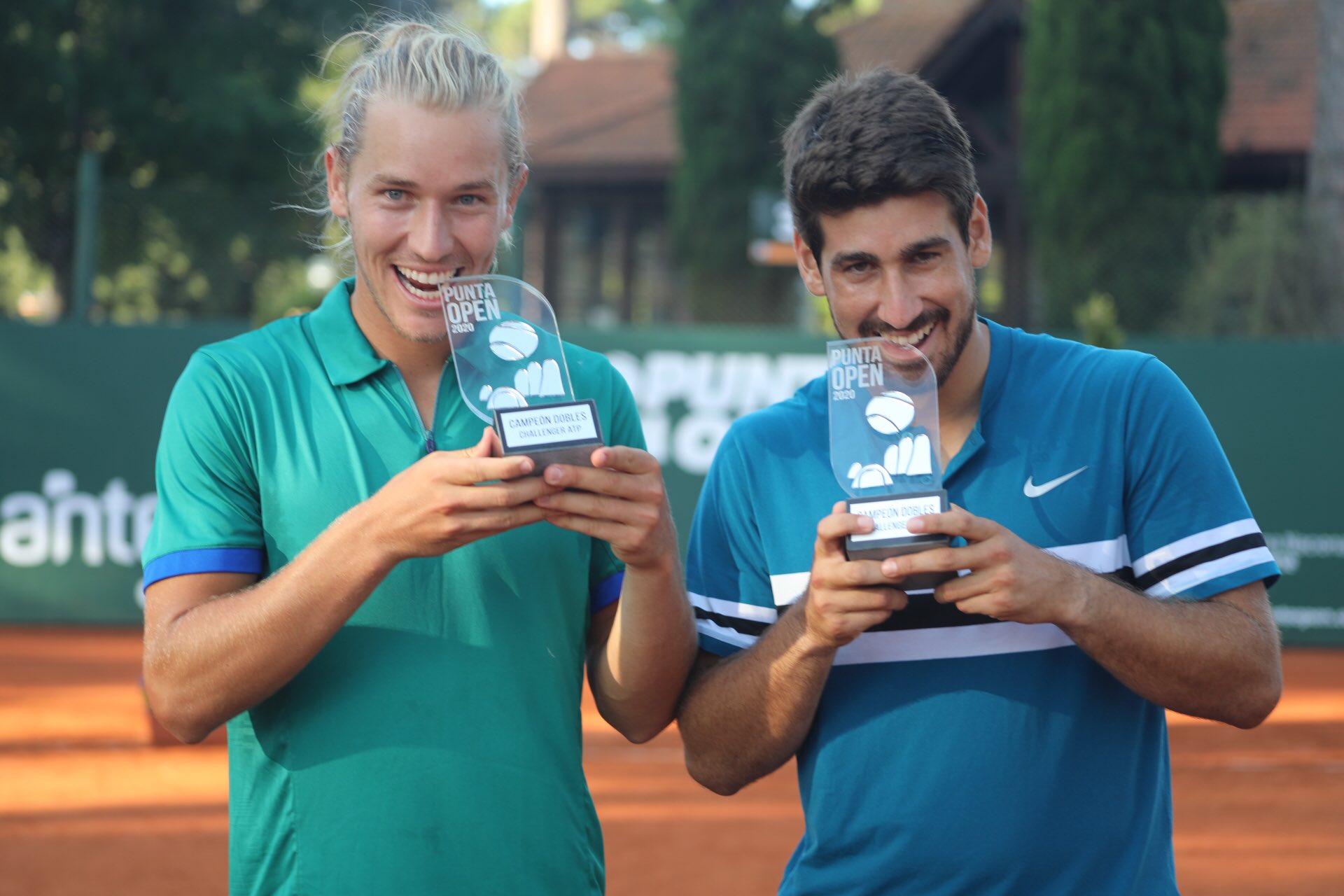 Orlando Luz e Rafael Matos na chave de duplas do Rio Open