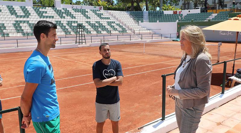 Prefeita de Marbella agradece Djokovic