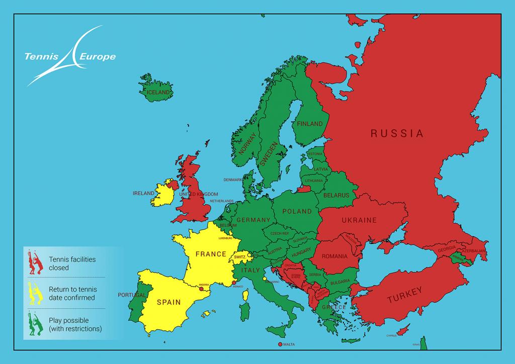 Confira o mapa do tênis na Europa
