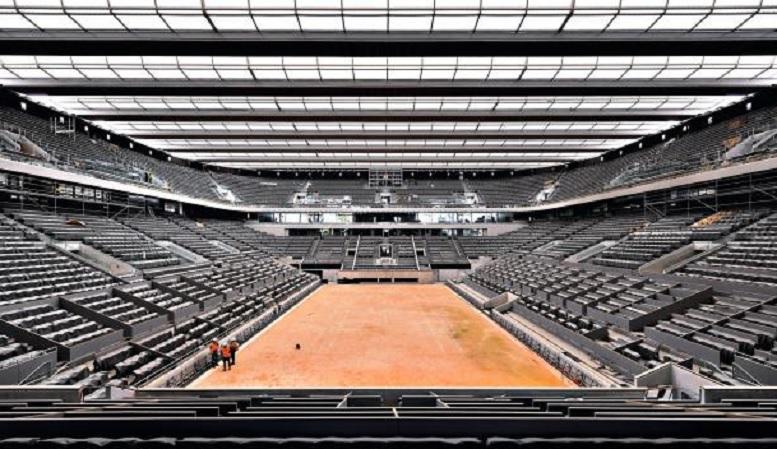 Obras de Roland Garros não param e estádios e estão quase prontos