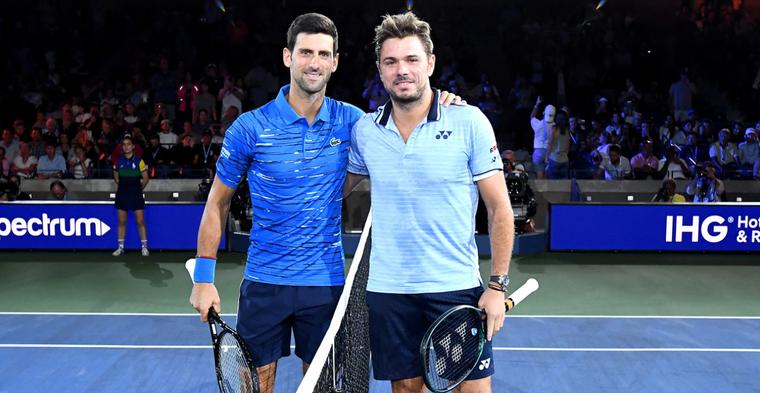 Djokovic e Wawrinka brincam com poção da juventude